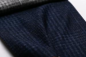 Ermenegildo Zegna 14 MILMIL 14 オーダースーツ生地 イタリア製 秋冬 チェック柄 ウール89% シルク6% カシミヤ5%